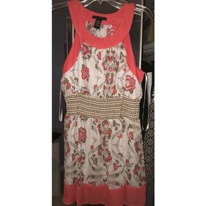 Apostrophe XL Tunic/Short Dress in Floral Coral